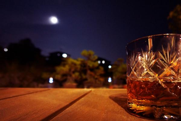 ウッドデッキ|夜景