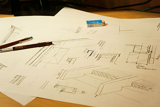 建築の納まり図