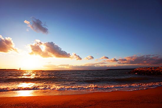 常滑の海とセントレアの画像