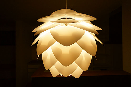 北欧風照明の点灯
