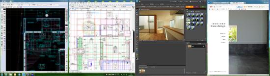 建築CADの作業画面