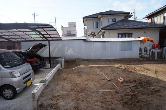 地縄が張られた岡崎市にある敷地