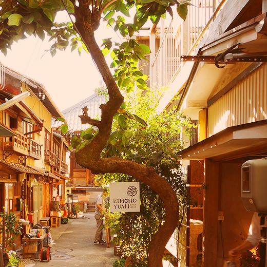 岡崎市内の下町風景
