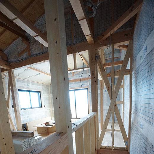 木製筋交いを使った耐力壁の画像