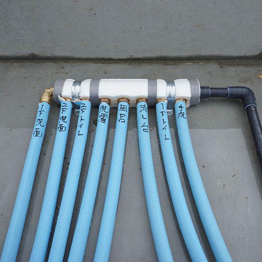 給水管の分岐点