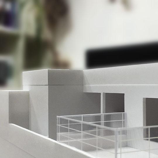 一文字の家の建築模型