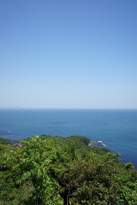 鳥羽展望台から見える太平洋の水平線