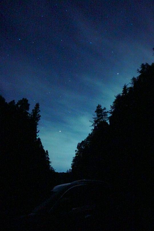 初めて撮った星景写真