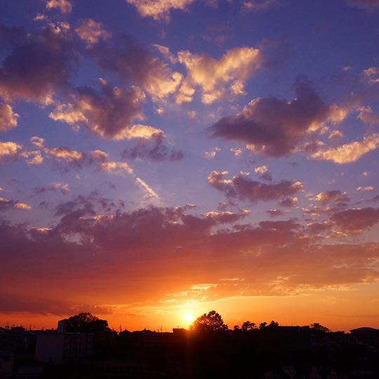 夏季休暇 夕焼けの写真