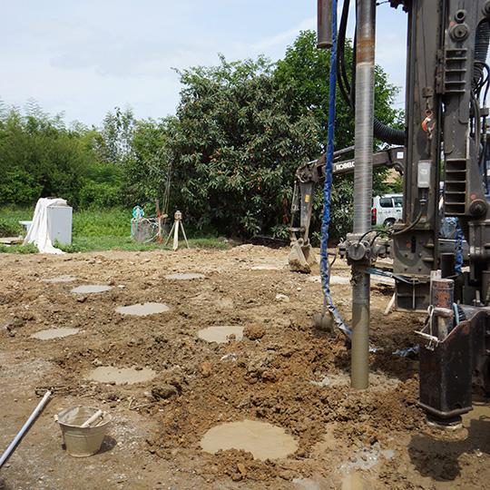 柱状改良工事の写真