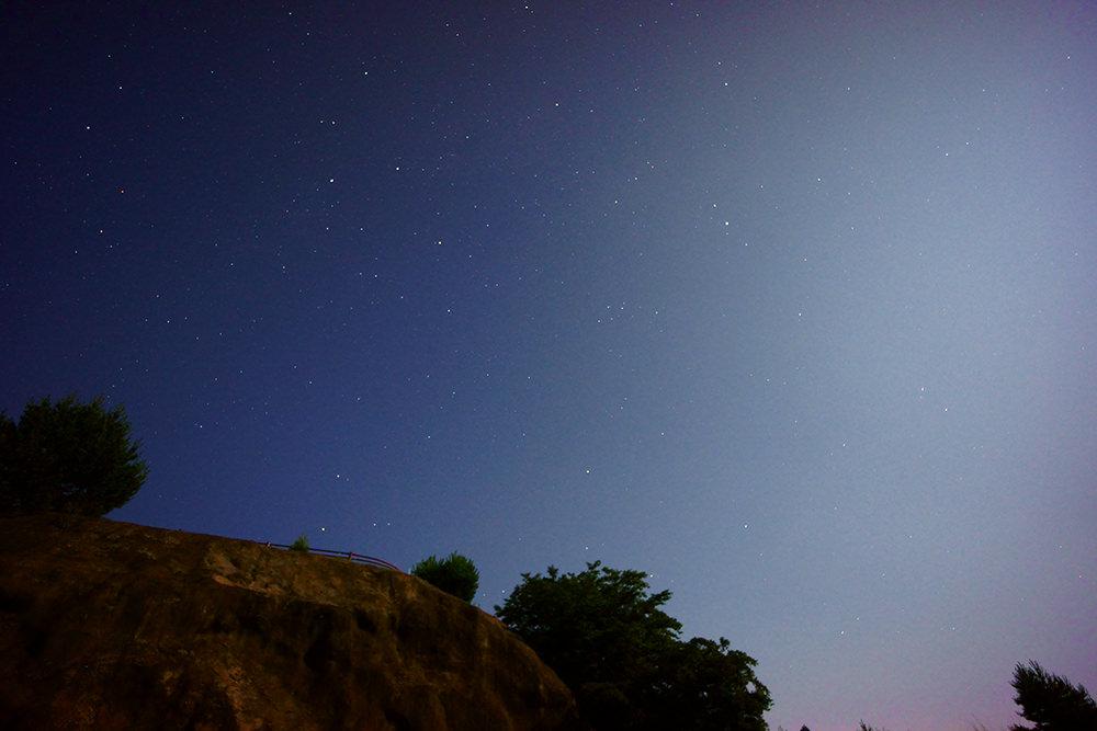 新城市 本宮山スカイラインから撮った七夕の星景写真