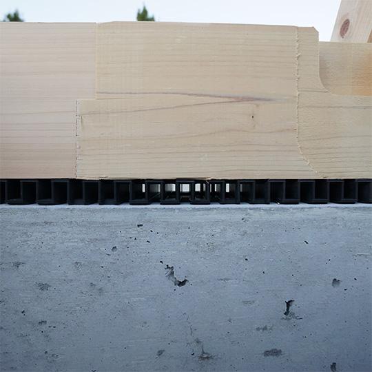 通気タイプの基礎パッキン